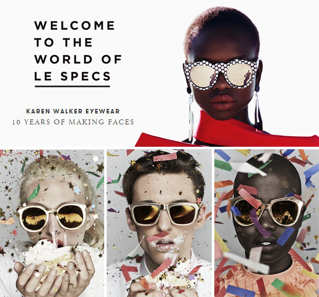 ce361e42992a7 Karen Walker e Le Specs são duas marcas que fazem o maior sucesso. As duas  seguem um conceito bem parecido – são marcas urbanas, cheias de estilo e  com ...